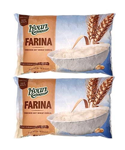 B'GAN Farina Enriched Hot Wheat Cereal 28 Ounce (Pack of 2)
