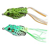 AGPtek 3pcs Lifelike Frog Topwater Crankbait Fishing Lures – Light Green Review
