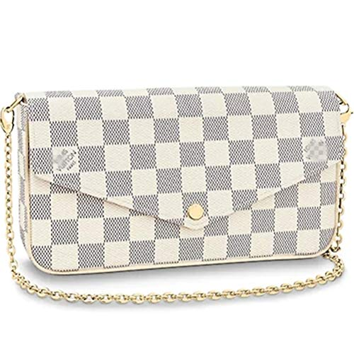 (Bags Forest Pochette Felicie Wallets Monogram Canvas Flap Purse Small Chain White (Pink))