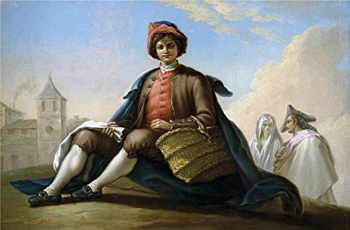 Oil Painting 'Bayeu Y Subias Ramon El Muchacho De La Esportilla Ca. 1786' 12 x 18 inch / 30 x 46 cm , on High Definition HD canvas prints is - Purple Costume Minion Diy