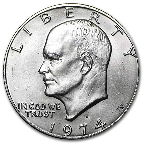 - 1974 S BU Eisenhower Silver Dollar (Ike) $1 Brilliant Uncirculated US Mint