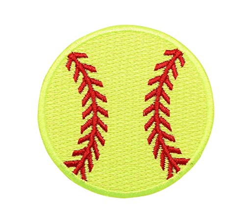 Large-Neon-Yellow-Softball-Iron-on-Embroidered-Patch