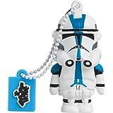 Tribe Disney Star Wars 501st Clone Trooper Chiavetta USB da 8 GB Pendrive Memoria USB Flash Drive 2.0 Memory Stick, Idee Regalo Originali, Figurine 3D, Archiviazione Dati USB Gadget in PVC con Portachiavi - Multicolore