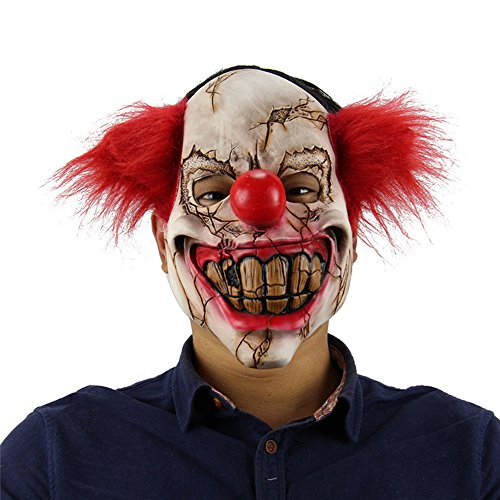 Female Scary Clown Costumes (2017 Halloween Horror Clown Mask zombie masks for adults men women kids (style 8))