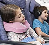Restcloud Kids Travel Neck Pillow for Airplane, Head and Neck Support for Kids Age 3 to 12 (Pink)