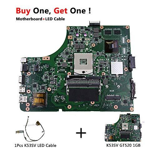 FidgetGear for K53SV Motherboard GT520M HM65 PGA989 DDR3 REV 3.1 1GB mainboard Tested (K53sv Motherboard)