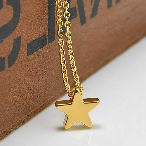 - Mikash Popular Moon Star Pendant Choker Necklace Gold Silver Long Chain Womens Jewelry | Model NCKLCS - 42373 |