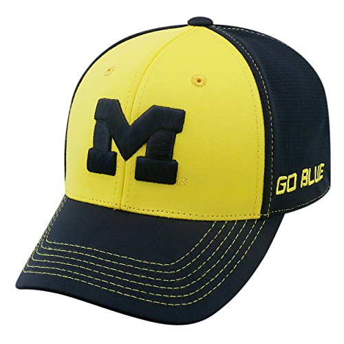 - Top of the World NCAA-Dynamic-One-Fit-Memory Fit-Hat Cap-L/XL-Michigan Wolverines