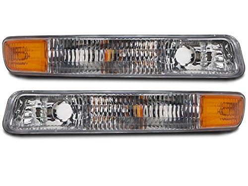 Assembly Signal Park Light (Headlights Depot Replacement for GMC Sierra/Yukon Park Signal Light OE Style Replacement Driver/Passenger Pair)