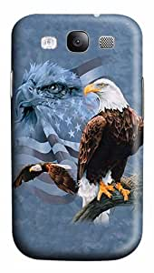 ICORER Luxury Samsung Galaxy S3 Cases Usa Flag And Bald Eagle Case Cover for Samsung Galaxy S3 SIII I9300 Polycarbonate Hard Plastic