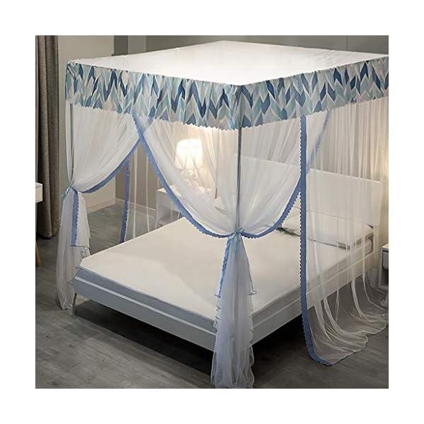 Piano zanzariera, 1,2 m 1,8 m letto domestico / 1.5m zanzariera, 2m Supporto Bed Encrypted zanzariera, 3 porte… 1 spesavip