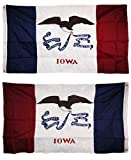 3×5 Embroidered State of Iowa Double Sided 210D Nylon Flag 3'x5′ Banner Grommets Double Stitched Fade Resistant Premium Quality Review