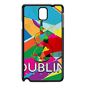 Dublin Black Hard Plastic Case for Galaxy Note 3 by Nick Greenaway + FREE Crystal Clear Screen Protector
