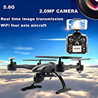 Fineser JXD 509G 5.8G FPV Quadcopter Drone with 2.0MP HD Camera RTF 4 Channel 2.4GHz 6-Gyro with Altitude Hold Function,Headless Mode and One Key Return Home