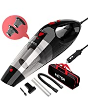Car Vacuum Cleaner High Power, HOTOR Vacuum for Car, Best Car Vacuum, Handheld Portable Auto Vacuum Cleaner Powered by 12V Outlet of Car, Come with 1 Extra Stainless Steel HEPA Filter – Black & Red