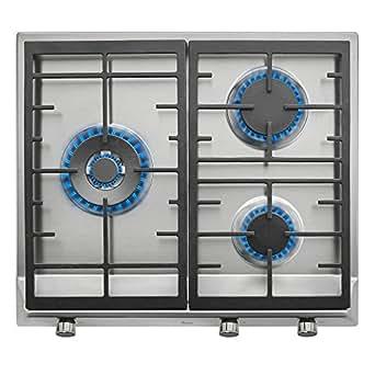 Teka EX 60 1 3G AI AL DR NAT Integrado Encimera de gas Acero inoxidable - Placa (Integrado, Encimera de gas, Acero inoxidable, hierro fundido, 1750 W, 2800 W)