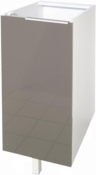 Berlenus CP3BT Cocina gabinete Inferior con 1 Puerta Taupe Alto ...