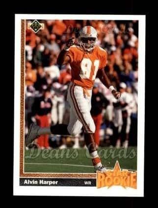 1991 Upper Deck # 24 Alvin Harper Dallas Cowboys (Football Card) Dean's Cards 8 - NM/MT Cowboys