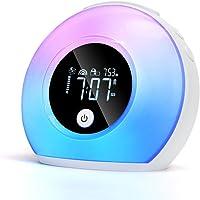 Väckarklocka, nattlampa för barn, digital klocka med LED-lampor för sovrum, LED-väckarklocka med Bluetooth-högtalare…