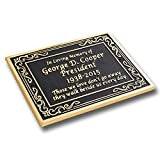 Custom Brass Memorial Plaque to Commemorate The Memory of Your Loved One. Hand Made in England