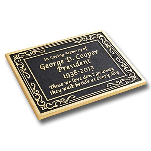 Custom Brass Memorial Plaque to Commemorate The Memory of Your Loved One. Hand Made in England by The Metal Foundry Ltd