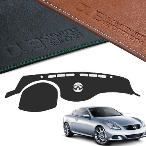 Custom Made Leather Edition Premium Dashboard Cover For INFINITI G37 G37s G25 G37 Coupe G35 G35S (Black Leather)