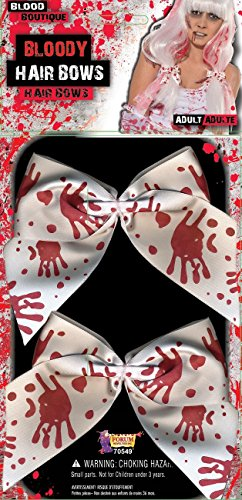 Forum Novelties Bloody Handprint Hair Bows Costume Accessory One Size Red