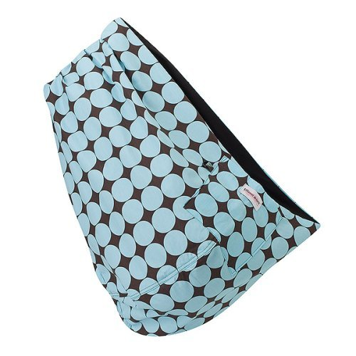Retro Blue Reversible Baby Sling - Medium