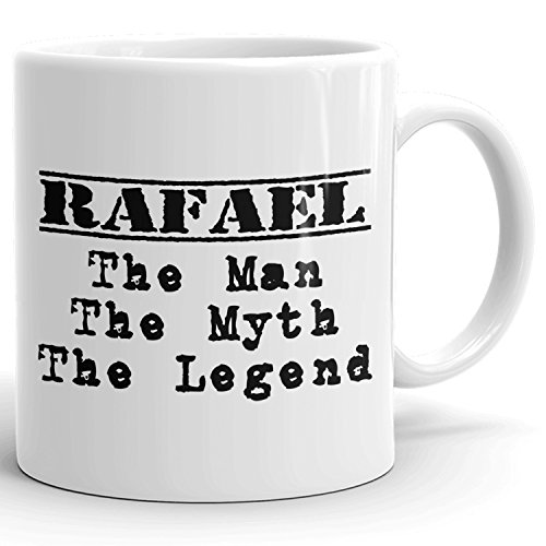 Best Personalized Mens Gift! The Man the Myth the Legend - Coffee Mug Cup for Dad Boyfriend Husband Grandpa Brother in the Morning or the Office - R Set 1
