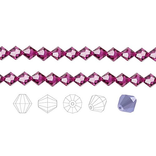 Preciosa Czech Crystal Beads Fuchsia Faceted Bicone 8mm Package of 72