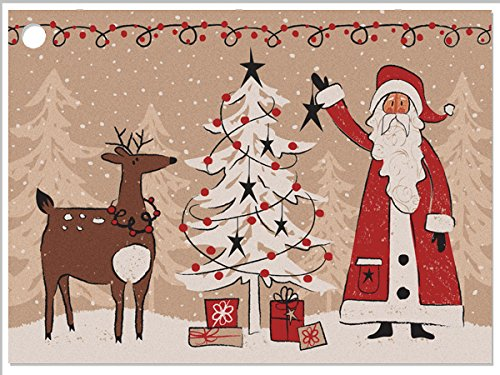Woodland Santa Gift Cards (6 Pack) 3-3/4x2-3/4 by Nas