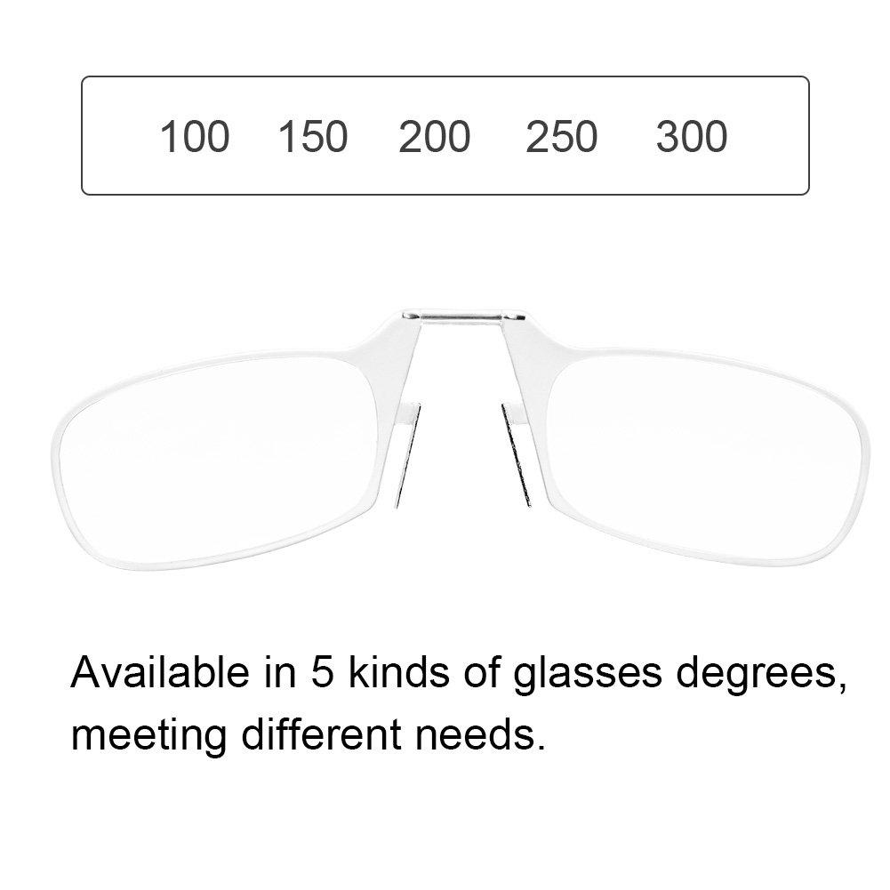 Amazon.com: Gafas de lectura, Portátil Clip de la Nariz ...