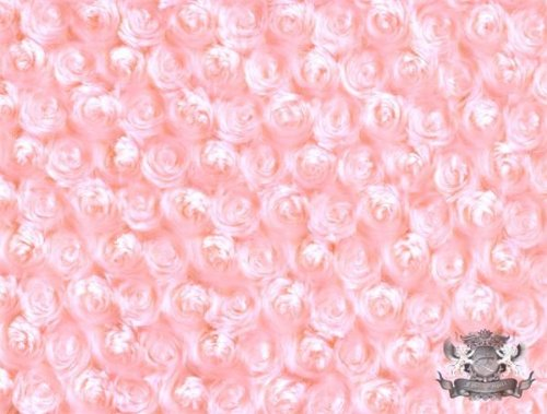 Minky Rosebud PEACH Fabric By the Yard ()