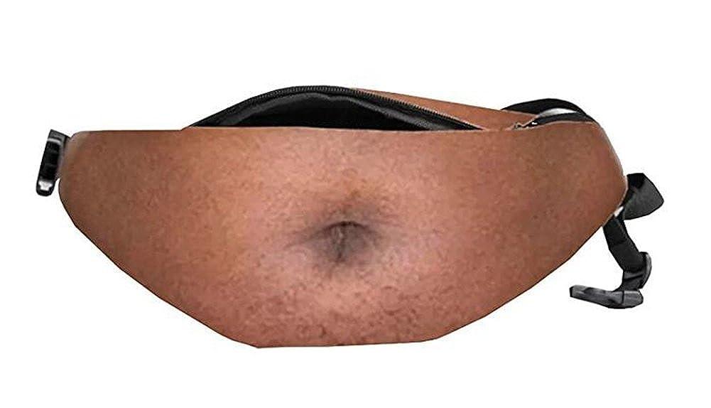 Dad Bag Fake Belly Waist Pack Unisex Fanny Pack Waist Stash with Adjustable Belt spionee A-001