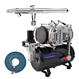 IWATA Eclipse HP-BCS AIRBRUSH Kit With Master TC-828 Air Compressor and 6 Foo...