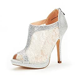 Women's High Heel Peep Toe Wedding Shoes