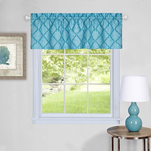 Achim Home Furnishings Colby Window Curtain Valance, 58