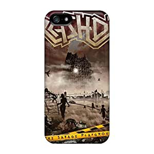 Protective Hard Phone Case For Iphone 5/5s With Unique Design Fashion Metallica Pattern AlainTanielian
