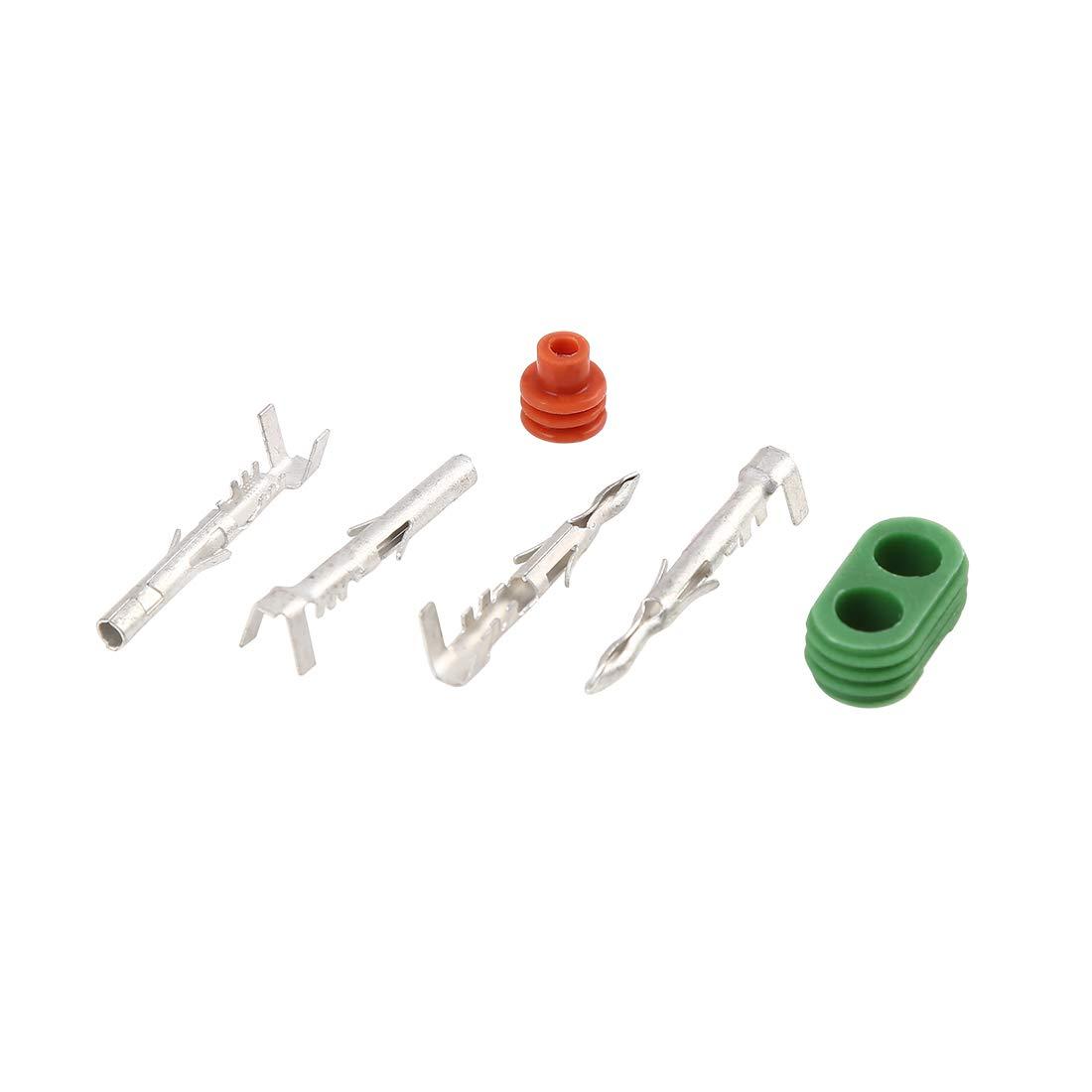 2 Pin 2,5 mm X AUTOHAUX Connettore terminale Impermeabile per Auto Serie 2 Set