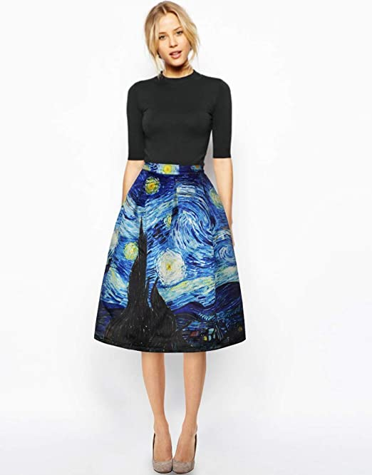 Las mujeres imprimieron la cintura elástica de cintura alta una ...