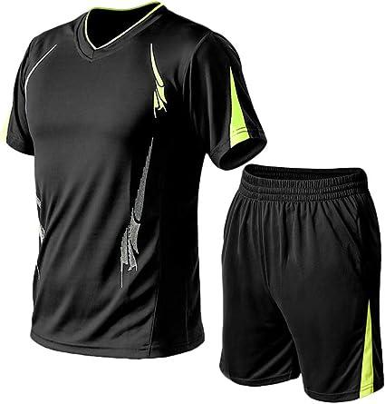 Men/'s Tracksuit Set Tops Shorts Casual Jogging Suit Summer Short Sleeve T-Shirt