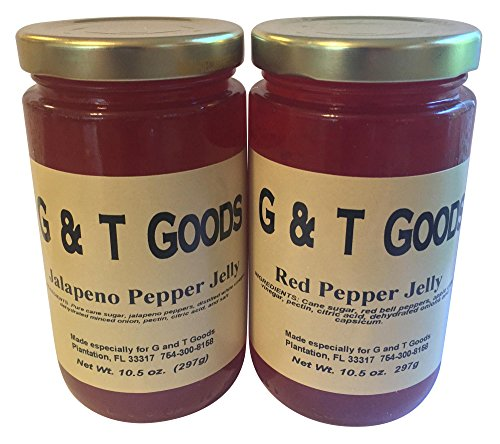 Jalapeno Jelly and Red Pepper Jelly Set. Pack of Two 10.5 oz