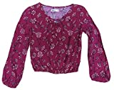 Epic Threads Girls' 7-16 Floral-Print Peasant Top (Medium)