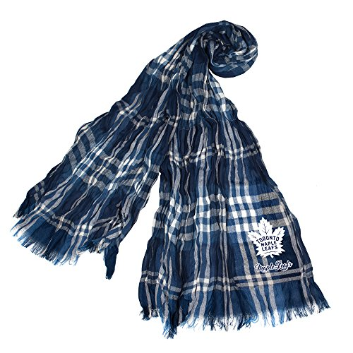 Littlearth NHL Toronto Maple Leafs Plaid Crinkle Scarf
