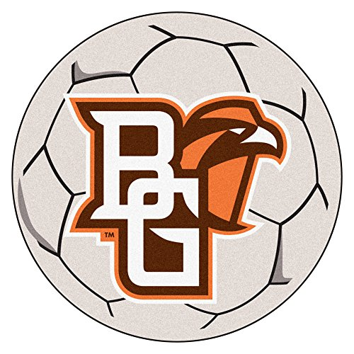 (NCAA Bowling Green State University Falcons Soccer Ball Mat Round Area Rug)