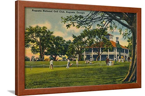 ArtEdge Augusta National Golf Club House, 1943 Wall Art Framed Print, 20x30, Brown Unmated