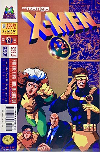 1998 - Marvel Imports - X-Men: The Manga Vol. 1 / No. 2 - Comic Book - B&W - Cyclops/Rogue - Collectible