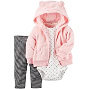 Carter's Baby Girls' Cardigan Sets 121g778, Pink Dot and Stripes, 3 Months