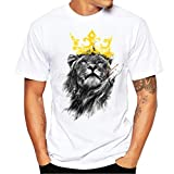 cool shirts - Neartime Hot Sale!Men's Tee, Men Cotton Tops Flag Print Blouse Short Sleeve T-Shirt (XL, White8)