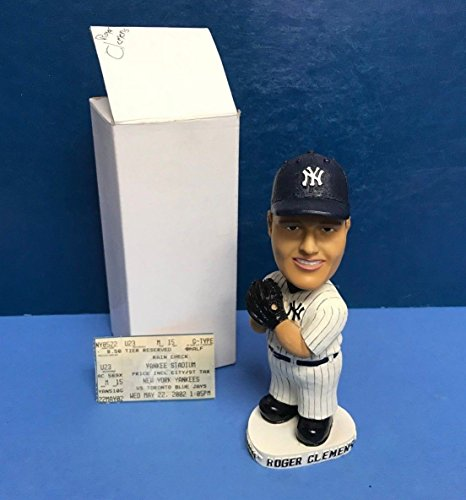 Roger Clemens 2002 New York Yankees Baseball Bobblehead SGA with Game Ticket Stub ()